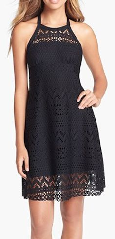 High Neck Crochet Cover-Up Dress  http://rstyle.me/n/eey2pnyg6
