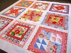 Pam Kitty Morning sampler quilt – progress update 1 | design . create . inspire