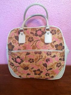 VTG Samsonite Saturn Floral Tapestry Brocade Carry On Luggage Bag 1960 lock MINT #Samsonite