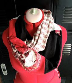 Merryweather's Cottage: DIY Circle Scarf from Upcycled Disney T-shirts Tutorial