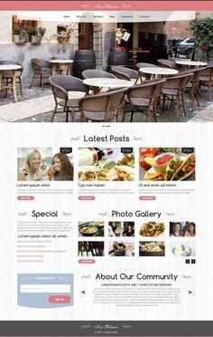 #Free #WordPress Theme for Café  http://www.freetemplatesonline.com/templates/Free-Wordpress-Theme-For-Cafe-540.html