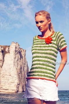dámské letní ručně pletené tričko z přízí Soft Cotton f0a3a72968