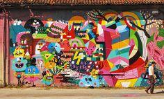 fun mural #art #mural #wall #painting #graffiti #coloful #colors