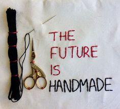 The Future Is Handmade - bordado feito a mão em 2017 por pedroluiss