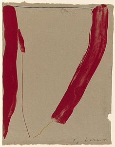 Helen Frankenthaler ~ Slice of the stone itself, 1969 (colour lithograph, handmade paper)