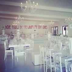 Braam & Lane @Kleinevalleij Function Centre #LOVE Our Wedding, Wedding Stuff, Centre, Table Settings, Table Decorations, Weddings, Nice, Home Decor, Decoration Home
