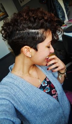 curly mohawk with closely cut sides