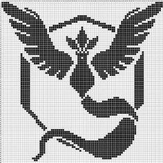 Team Mystic perler pattern by kittycup_perler