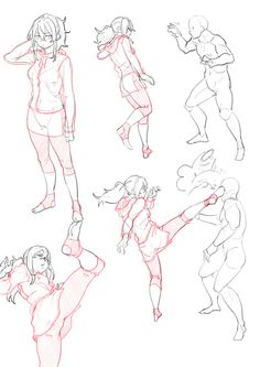 — Action poses