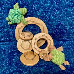This year's World Turtle Day (May 23, 2021) is presented to you by Shelldon and Shellington, who are both creations of fellow pin loom weaver Susan Pihl. World Turtle Day, French Knots, Favorite Holiday, Loom, Weaving, Presents, Symbols, Pattern, Gifts