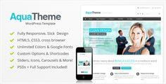 #WordPress_Themes #Aqua #Blue Aqua – Responsive Multi-Purpose WordPress Template: Get Aqua – Responsive Multi-Purpose WordPress Template…