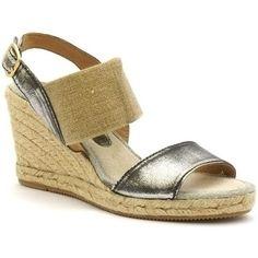 Sandales coco abricot v0141b de couleur multicolore, en cuir   textile.  Chaussures à talon 42efd2192361