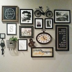 40 Brilliant Wall Gallery Ideas For Your Living Room Wall Decor Living Room Brilliant Gallery ideas living room Wall Wall Collage, Frames On Wall, Empty Frames, Wall Art, Living Room Designs, Living Room Decor, Living Room Wall Ideas, Foyer Wall Decor, Living Rooms