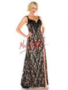 Black Lace Prom Dress | Plus Size Prom Gown | Mac Duggal 76801F