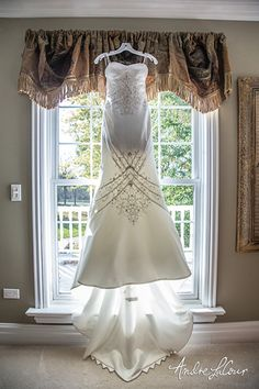Wedding dress at home, waiting to be worn   Andre LaCour Photography