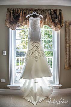 Wedding dress at hom
