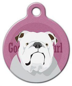 red dingo custom engraved stainless steel and enamel dog id tag