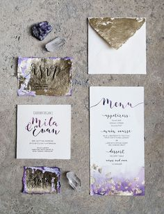 Amethyst-Inspired Purple and Gold Wedding Styling Lilac Wedding, Crystal Wedding, Wedding Bouquets, Wedding Day, Wedding Shoes, Wedding Things, Rustic Wedding, Destination Wedding Planner, Wedding Planning