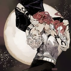 Jace and Clary from The Mortal Instruments series (written by cassandraclare ) - Drawn by CassandraJean