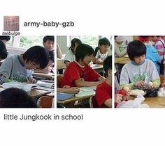 Little fetus Jungkookie in school ♥o♥ so cute