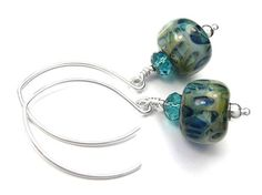 Lampwork Glass Earrings - Tahiti
