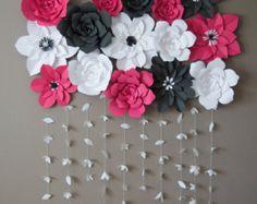 Fondo de flor de papel DIY por KMHallbergDesign en Etsy
