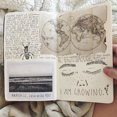 I am growing 🌱 (ps I know I've been posting a lot lately but I go through streaks where I'm so inspired to journal then all of a sudden feel so uninterested in journaling so I'm taking full advantage of it) 💫 Wreck This Journal, My Journal, Journal Pages, Sketch Journal, Journal Ideas, Kunstjournal Inspiration, Sketchbook Inspiration, Bullet Art, Arte Sketchbook