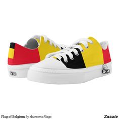 28f01be0113 Flag of Belgium Printed Shoes Belgische Stijl, Nationale Vlag, Sneakers Nike