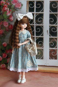 日本橋リカ避暑地4541 Tiny Dolls, Ooak Dolls, Cute Dolls, Blythe Dolls, Girl Doll Clothes, Barbie Clothes, Moda Barbie, Kawaii Doll, Beautiful Barbie Dolls