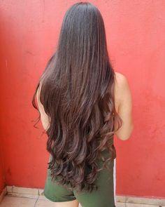 """Long Hair Saga 💕 on Instagram: """"Menina bonita com cabelos longos e saudáveis ❤️ Muito obrigado por compartilhar esta linda foto 😊👍 #instahair #cabello #cabeloslindos…"""""""