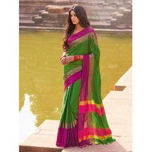 Saree Color : Green Rs. 649 Buy Now http://www.craftsvilla.com/shop/best-deal-chanderi-silk-saree/5250429