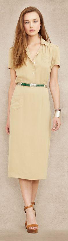 Ralph Lauren Blue Label ● Crepe Belted Dress