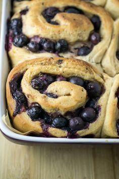 Vegan Blueberry Sweet Rolls | Yup, it's Vegan