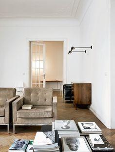 living room, Hamburg apartment belonging to Wolfgang Behnken