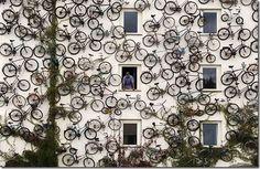 arte de rua bicicleta
