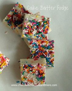 Cake Batter Fudge-so easy to make and so good to eat!