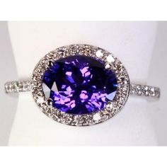 East West Oval Tanzanite and Diamond Ring