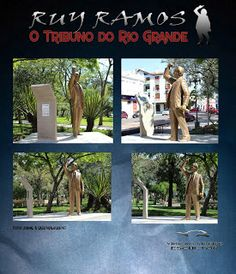 "Escultura ""Ruy Ramos o Tribuno da Legalidade"" Alegrete-RS"