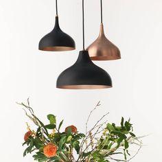 vienna 30 medium pendant lamp, black/copper by authentics | notonthehighstreet.com