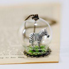 Cute Tiny Zebra Necklace Glass Ball Necklace Lovely 3D par minnadiy, $14.90 Zebra Crossing, Ball Necklace, Glass Ball, Art Photography, Women's Clothing, 3d, Clothes For Women, Cute, Accessories