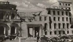 "April 28, 1945: Martin Bormann wires Admiral Doenitz: ""Reich Chancellery (Reichskanzlei) a heap of rubble."" He informs Keitel that the foreign press is reporting fresh acts of treason and 'that without exception Schoerner, Wenck and the others must give evidence of their loyalty by the quickest relief of the Fuehrer."