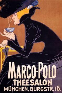 Vintage Poster: Marco Polo Tea Salon