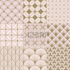 seamless gold and pink geometric pattern Stock Vector