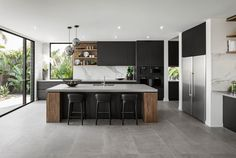 Modern Kitchen Interior Remodeling - Contemporary display home located in Sorento, Queensland, Australia, designed by Metricon. Modern Kitchen Cabinets, Kitchen Flooring, Kitchen Countertops, Kitchen Modern, Minimal Kitchen, Island Kitchen, Kitchen Appliances, Rustic Kitchen, Kitchen Backsplash