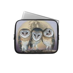 Sacred owls laptop computer sleeve