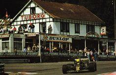 Ayrton Senna in the Lotus 98T at Spa '89