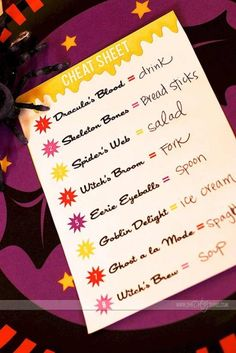 A spooky and kooky halloween dinner idea that will fit any meal. Everything you need included. This could be a new tradition! Halloween Menu, Halloween Party Costumes, Halloween Night, Holidays Halloween, Easy Halloween, Halloween Treats, Halloween Bathroom, Halloween 2019, Happy Halloweenie