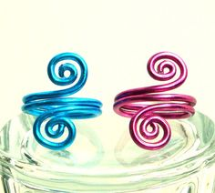 Wire Jewelry Wire Ring Spirals Aluminum by thecuriouscupcake