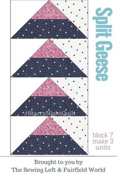 It's time for the next block in the Starry Night Quilt Sampler - Split Geese…