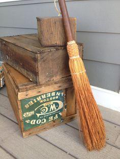 Vintage Fireplace broom  whisk broom
